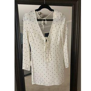 White/Black polka dot dress by TopShop